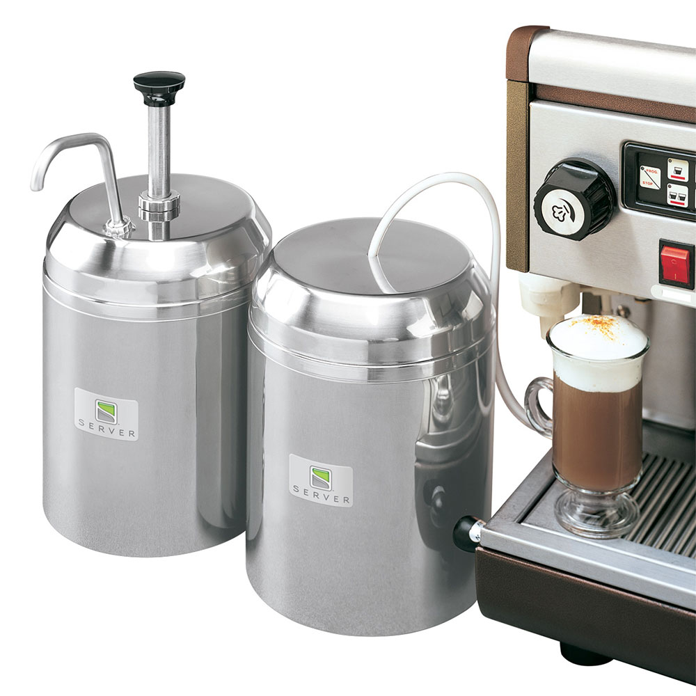 Server 94070 Insulated Chilled Condiment Server w/ 1-oz Yield Pump & 3-qt Jar, Stainless