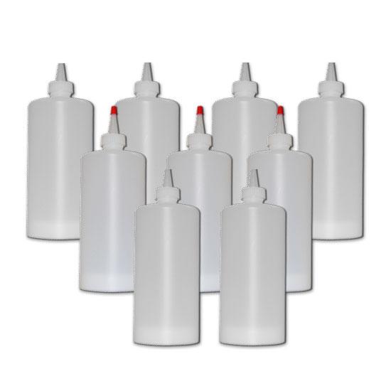 Prince Castle 136-1 Reusable Dispenser Bottles Case of 9 Restaurant Supply