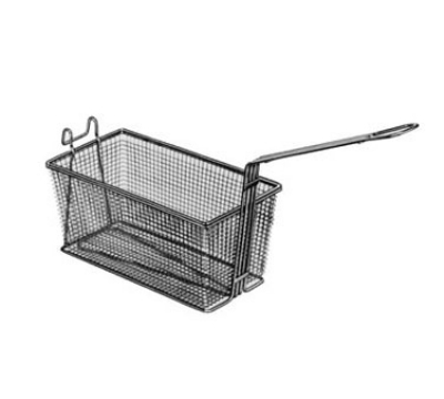 Prince Castle 676-3 Nickel Plated Wire Mesh 17-1/4 in x 8-1/2 x 6 Fry Basket