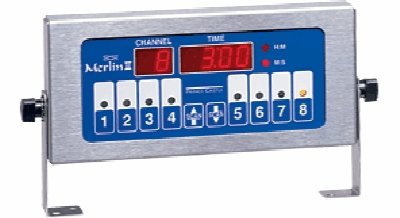 Prince Castle 741-T4 4-Channel Electric Timer, Single Display,  6-ft Cord, 120v