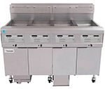 Frymaster 4FQE30U Electric Fryer - (4) 30-lb Vat, Floor Model, 208v/3ph
