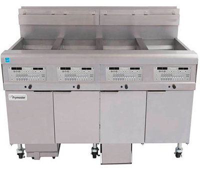 Frymaster / Dean 2FQG30U Gas Fryer - (2) 30-lb Vat, Floor Model