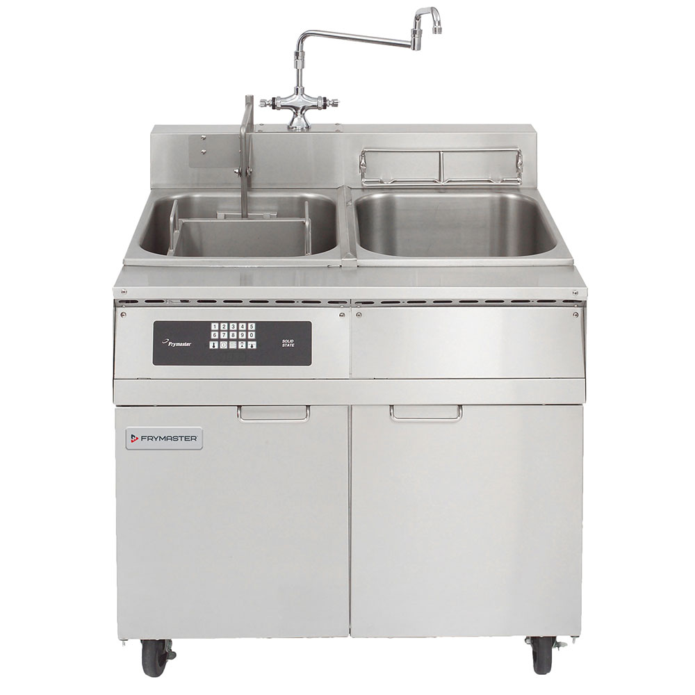 Frymaster 8SMS Single Tank Pasta Cooker w/ Rinse Tank, Lift, Stainless, 8 Kw, 240v/1ph