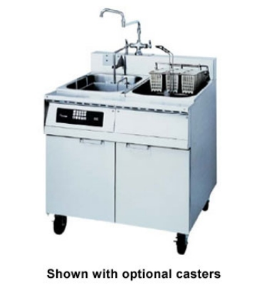 Frymaster 8SMS 2081 Single Tank Pasta Cooker w/ Rinse Tank, Lift, Stainless, 8 Kw, 208/1
