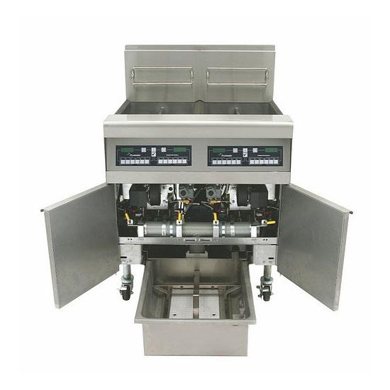 Frymaster FPPH255 Gas Fryer - (2) 50-lb Vat, Floor Model, NG