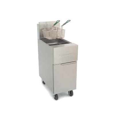 Frymaster GF40 Gas Fryer - (1) 50-lb Vat, Floor Model, NG