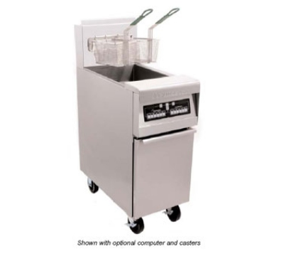 Frymaster / Dean H552BLCSCNG 50-lb Split Fryer w/ Basket Lift & Computer All Stainless NG Restaurant Supply