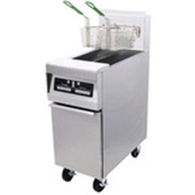 Frymaster / Dean H55-2E NG Gas Fryer - (1) 25-lb Vat, Floor Model, NG