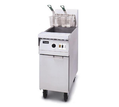 Frymaster / Dean MJ45ESCNG Gas Fryer - (1) 50-lb Vat, Floor Model, NG