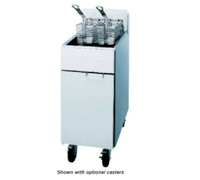 Frymaster / Dean RE22BLTC-SC 2403 Heavy Duty Fryer 50 lb Basket Lifts TRIAC Stainless 22 Kw 240/3 Restaurant Supply