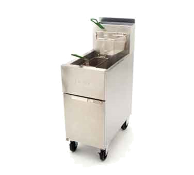 Frymaster / Dean SR52NG Gas Fryer - (1) 50-lb Vat, Floor Model, NG
