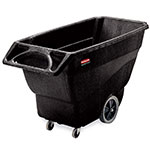 Rubbermaid FG101100BLA 600-lb Capacity Tilt Trash Cart, Black