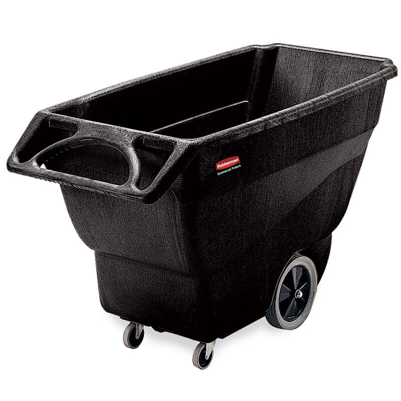 Rubbermaid FG101100BLA .75-cu yd Trash Cart w/ 2100-lb Max Load Capacity, Black