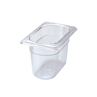 "Rubbermaid FG101P00CLR Cold Food Pan - 1/9 Size, 4"" Deep"