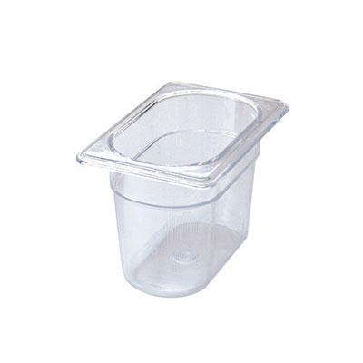 "Rubbermaid FG101P00CLR Cold Food Pan - 1/9 Size, 4"" Deep"