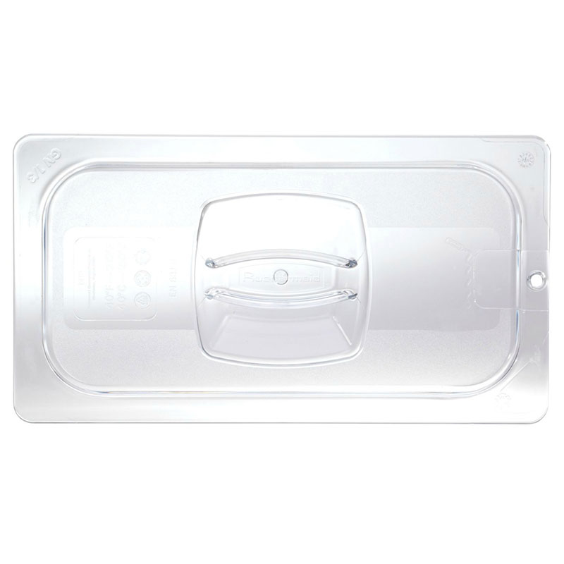 Rubbermaid FG102P23CLR Cold Food Pan Cover - 1/9 Size, Clear Poly