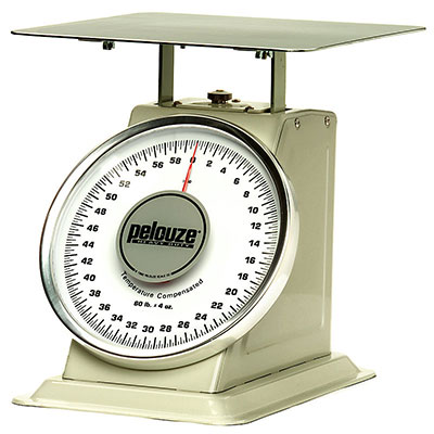 Rubbermaid FG1060 Pelouze Dial Type Portion Scale - 60-lb x 4-oz, Enamel/Chrome