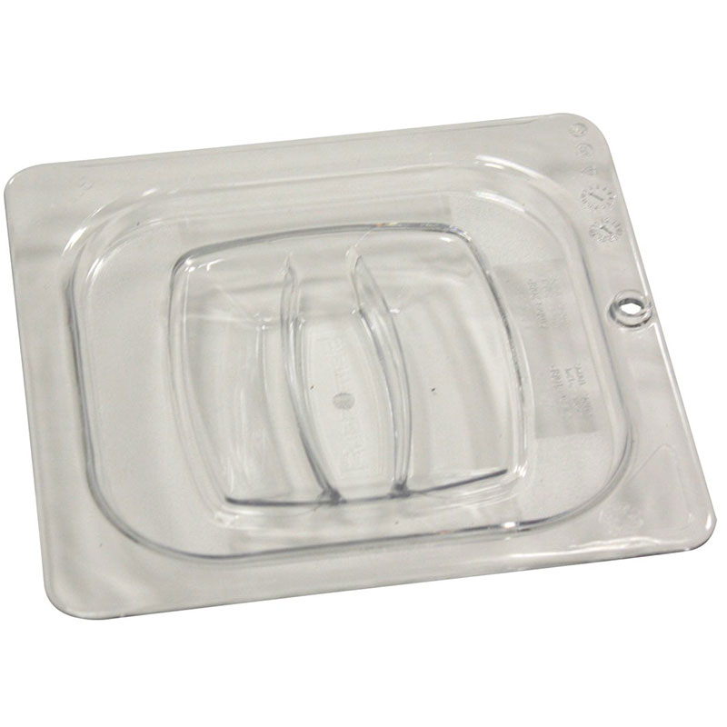 Rubbermaid FG108P23CLR Cold Food Pan Cover - 1/6 Size