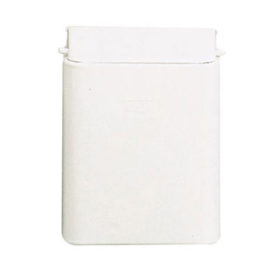 Rubbermaid FG10 Sanitary Napkin Receptacle - Wall Mount, (3) Bags, Steel, White