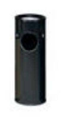 Rubbermaid FG1100EBK 3-1/2-gal Ash/Trash Waste Container - Plastic Liner, Black