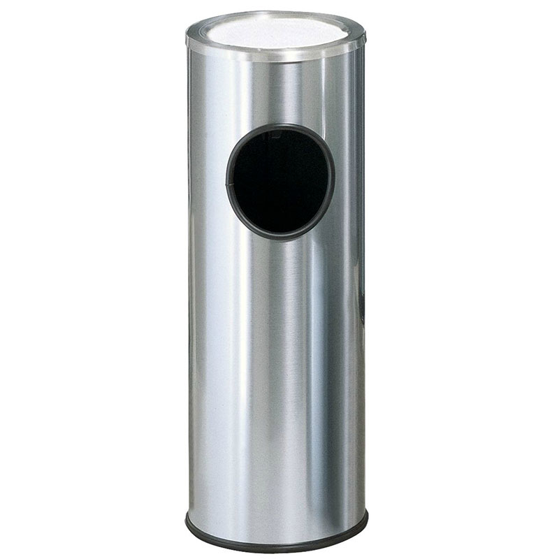 Rubbermaid FG1100SSS 3-1/2-gal Ash/Trash Waste Container - Plastic Liner, Satin Stainless