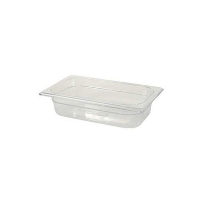 "Rubbermaid FG210P00AMBR Hot Food Pan - 1/4 Size, 2-1/2"" Deep, Poly, Amber"