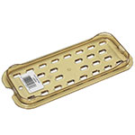 Rubbermaid FG113P00AMBR Hot Food Pan Drain Tray - 1/4 Size, Amber