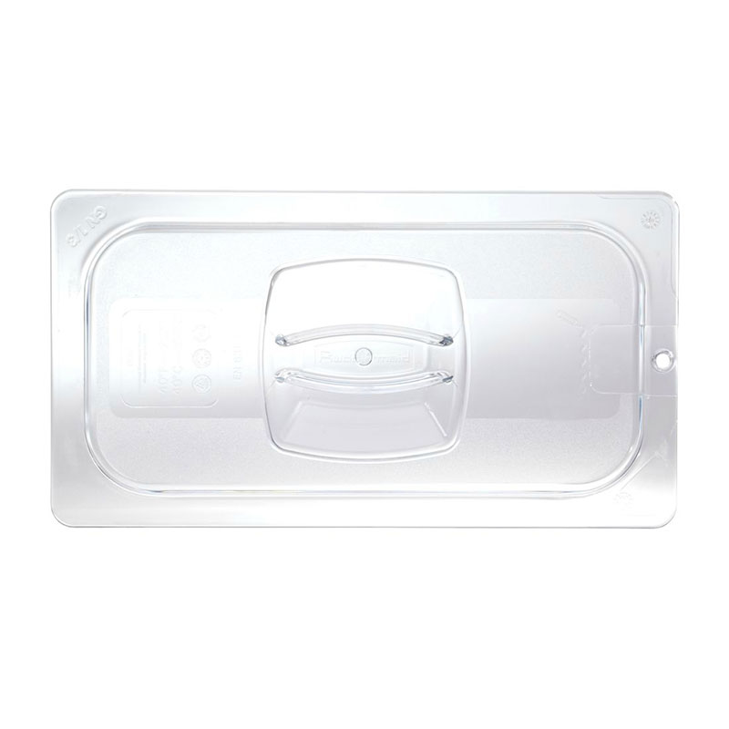 Rubbermaid FG114P86CLR Cold Food Pan Cover - Notched, 1/4...