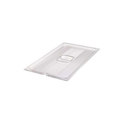 Rubbermaid FG114P00CLR Cold Food Pan Cover - 1/4 Size, Clear Poly