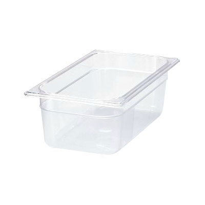 "Rubbermaid FG117P00CLR Cold Food Pan - 1/3 Size, 4"" Deep"
