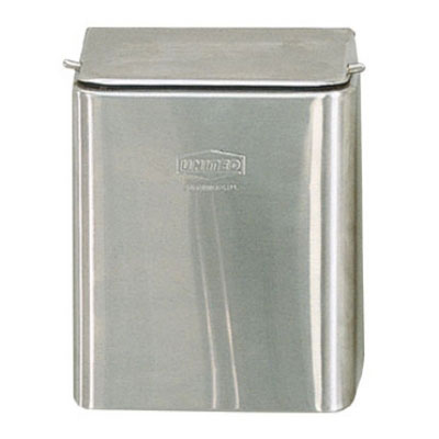 Rubbermaid FG11SS Sanitary Napkin Receptacle - Wall Mount, (3) Bags, Steel, Stainless