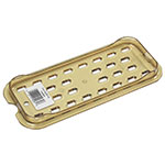 Rubbermaid FG120P00AMBR Hot Food Pan Drain Tray - 1/3 Size, Amber