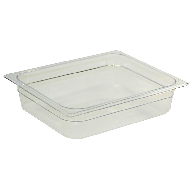 "Rubbermaid FG224P00BLA Hot Food Pan - Half Size, 4"" Deep, Poly, Black"