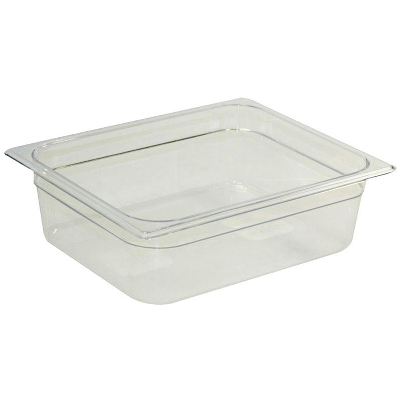 "Rubbermaid FG124P00CLR Cold Food Pan - Half Size, 4"" Deep"