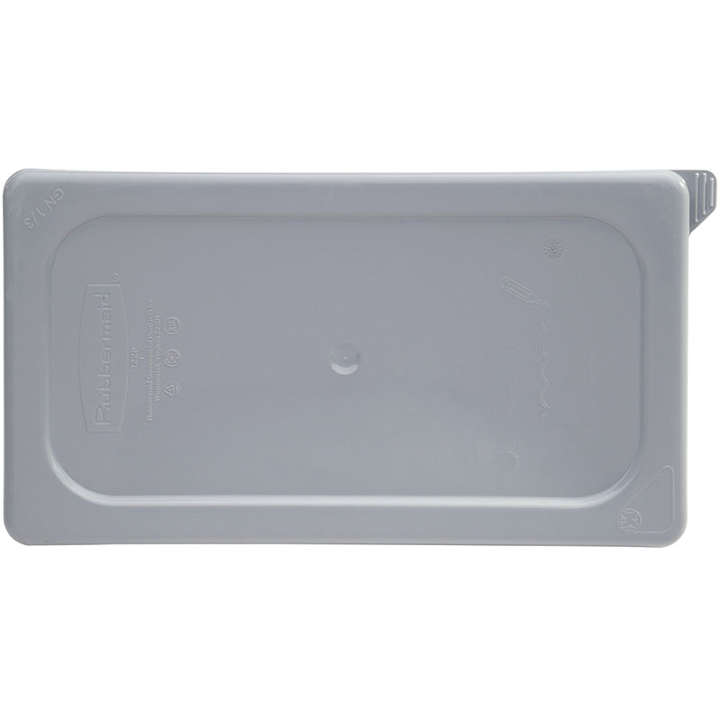 Rubbermaid FG129P29GRAY Cold Food Pan Secure Seal Lid - Half Size, Clear Poly