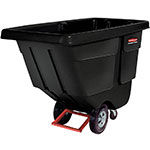 Rubbermaid FG130400BLA .5-cu yd Trash Cart w/ 450-lb Capacity, Black