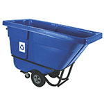 Rubbermaid FG130573BLUE .5-cu yd Trash Cart w/ 750-lb Capacity, Blue