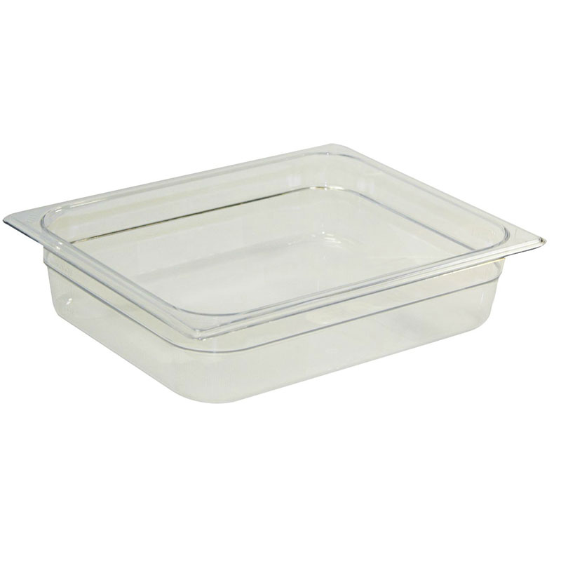 "Rubbermaid FG130P00CLR Cold Food Pan - Full Size, 2-1/2"" Deep"