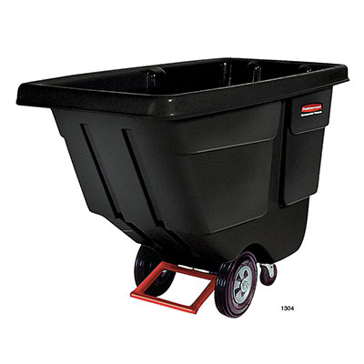 Rubbermaid FG131400BLA Rotational Tilt Truck - Utility-Duty, 850-lb Capacity, Black
