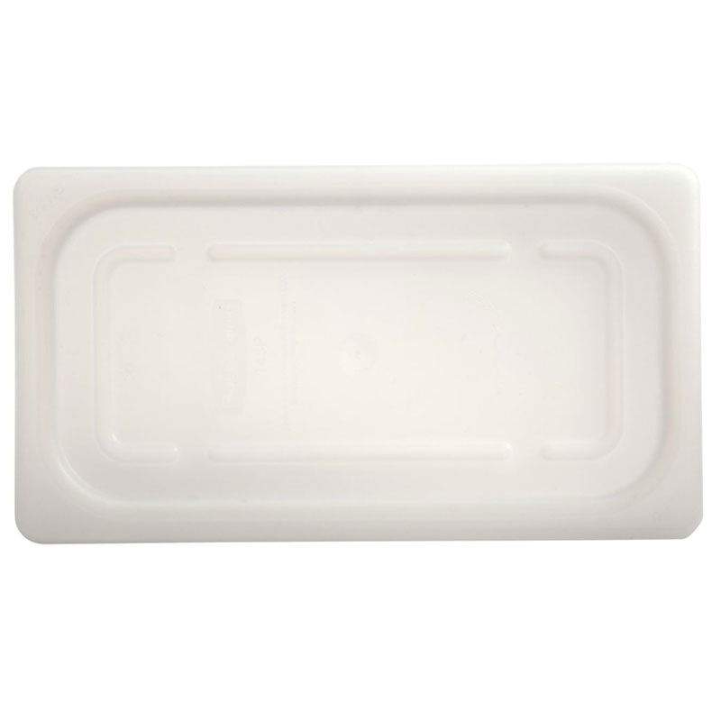 Rubbermaid FG144P00WHT Cold Food Soft Sealing Lid - 1/4 Size, Poly, White