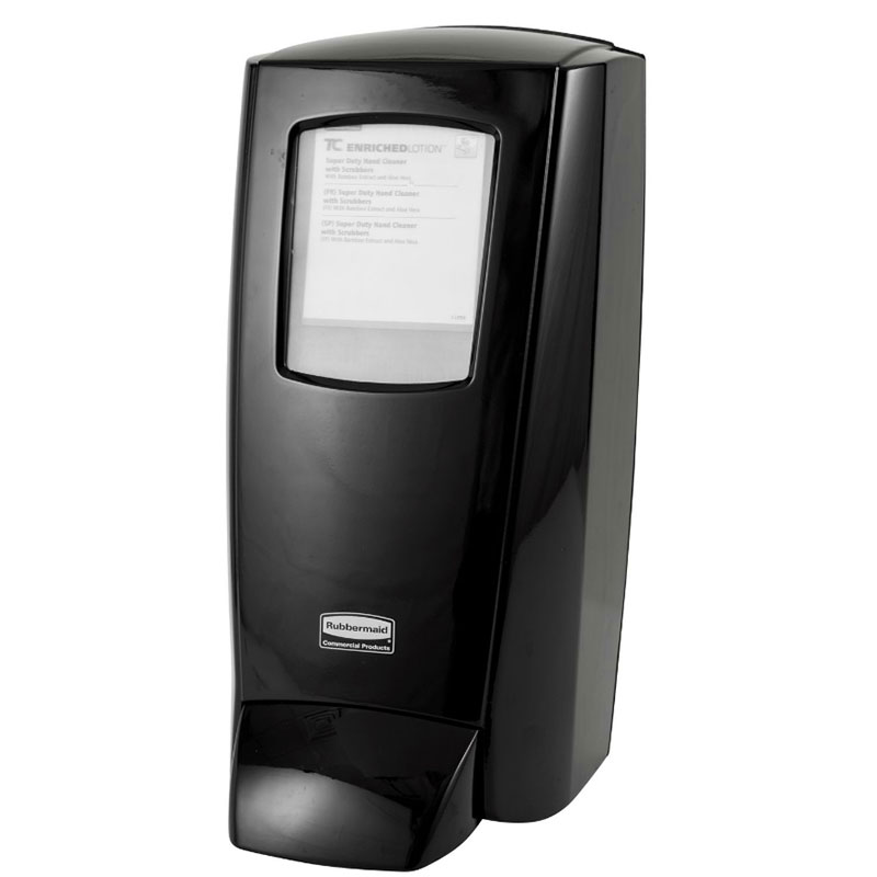 Rubbermaid 1780888 Manual Soap Dispenser - 5000-ml, Wall Mount, Black