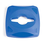 Rubbermaid 1788374 Square Recycling Trash Can Lid - Plastic, Blue