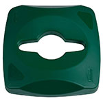 Rubbermaid 1788375 Square Single Stream Lid - 23-gal Untouchable Container, Green