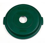 Rubbermaid 1788377 Round, Recycling Trash Can Lid - Plastic, Green