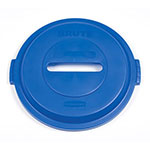 Rubbermaid 1788378 Paper Lid - 32-gal BRUTE Recycling Container, Blue