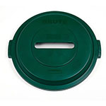 Rubbermaid 1788379 Round Recycling Trash Can Lid - Plastic, Green