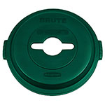 Rubbermaid 1788471 Round, Recycling Trash Can Lid - Plastic, Green