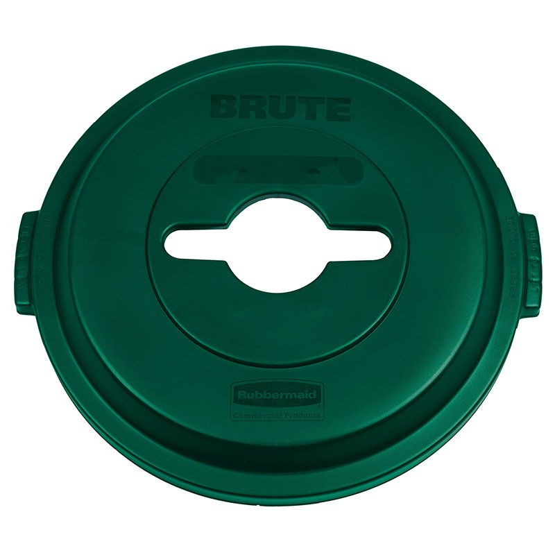 Rubbermaid 1788471 Single Stream Lid - 32-gal BRUTE Recycling Container, Green