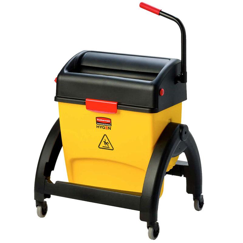 Rubbermaid 1791797 Hygen 16-qt Mop Bucket - Wringer, Floor Drain, Yellow