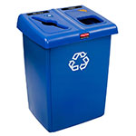 Rubbermaid 1792339 46-gal Multiple Material Recycle Bin - Indoor, Multiple Sections